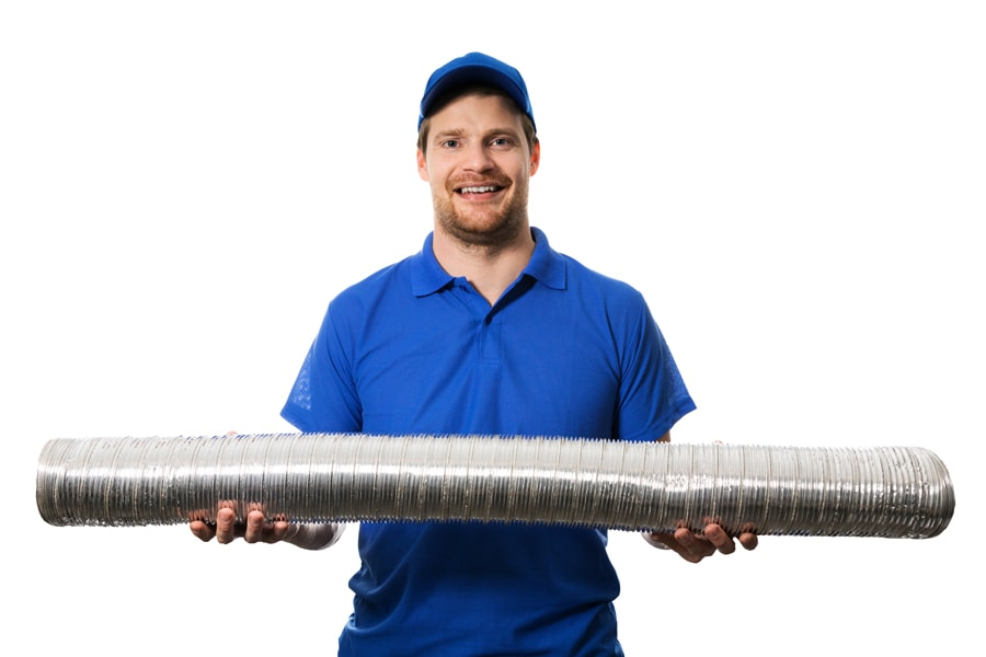 A repair man holding a length of tubing | What Are Signs I Need a New Furnace? | Clackamas, OR